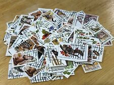 100 Assorted #2286-2335 North American Wildlife Used Off Paper Stamps Lot #112