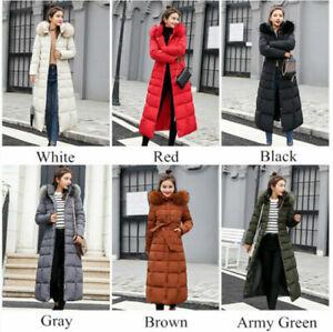 Top Quality Winter Women Coat Cotton Jacket Ladies Fur Hooded Long Puffer Parka