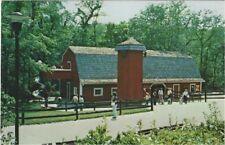 1960's postcard - The Red Barn in Oglebay's Good Zoo, Wheeling, West Virginia