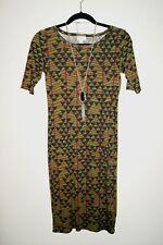 New LuLaRoe  Olive Green Print JulIa Dress  Size XXS