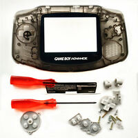 Transparent Black Housing Shell Pack Case for Nintendo Game Boy Advance GBA