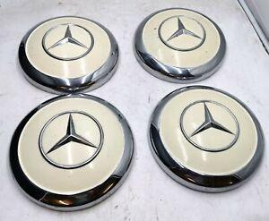 4x Mercedes Ponton Radblenden Radkappen W120 180 190 SL W180 300 Beige