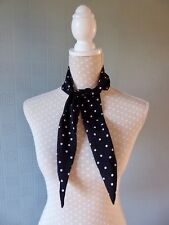 Black and white polka dot scarf, rockabilly retro 40's style scarf, forties look