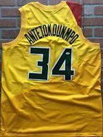 Giannis Antetokounmpo autographed signed jersey NBA Milwaukee Bucks PSA COA