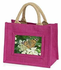 Painted Lady Butterfly Little Girls Small Pink Shopping Bag Christmas, IBU-12BMP