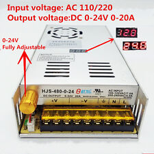 DC0-24V 20A 480W Adjustable Regulate Switching Power Supply with Digital Display
