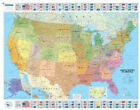 USA Political - Michelin rolled & tubed wall map Encapsulated: Wall Map