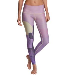 Teeki Yoga Leggings Coyote Moon Dawn Purple Large Pilates Fitness Gym Made USA
