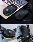 Slim Rechargeable Wireless Blue-tooth Mouse For Laptop PC Mac iPad MacBook Air