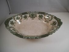 """Antique Wedgwood Royal Raleigh Green 9"""" Oval Vegetable Bowl"""