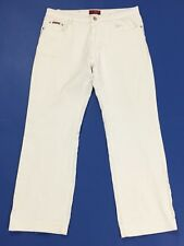 HL jeans donna usato slim stretch W33 tg 47 gamba dritta bianco accorciati T3481