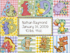 Cross Stitch Kit ~ Dimensions Zoo Alphabet Baby Birth Record #73472