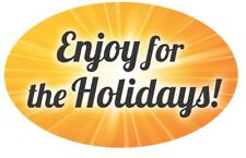 """1.25"""" x 2"""" Enjoy For the Holidays! Labels 500 Per Roll Great Stickers"""