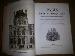 PARIS-DANS-SA-SPLENDEUR-MONUMENTS-VUES-SCENES-HISTORIQUES 1861 réedition 1990