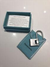 TIFFANY & CO PADLOCK KEYCHAIN TWIST LOCK CLOSURE STERLING SILVER