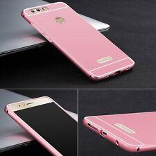 Parachoques De Aluminio 2 pizas con Tapa De Color Rosa para Huawei Honor 8 Funda