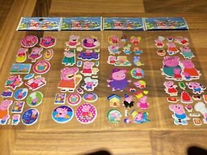 10 x  PEPPA PIG  Sticker strips  loot -party bags birthday -gift - girls party
