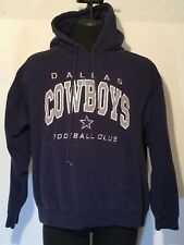 Mens Dallas Cowboys XL Football Club Hoodie Pull Over All Cotton Embroidered 096