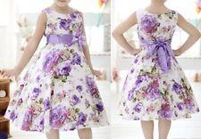 Robe Fille 6-7-8 ans,Elégante,Princesse,Eté,Violet,Blanc,Multicolore,Anniversair