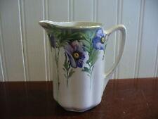 Small Vintage Hand Painted Porcelain Royal Nippon Nishiki Floral Motif Pitcher
