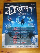 DRAPHT - THE UNI-VERSE Australian Tour - Laminated Promotional Poster