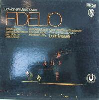 "Beethoven Fidelio Lorin Maazel Prey Nilsson Mc Cracking Böhme -12 "" LP (k508)"