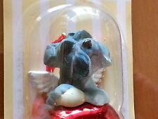 1 Dozen Schnauzer Dog Figurine Red Brass Bells By Dnc Collectibles 12 Pc Lot