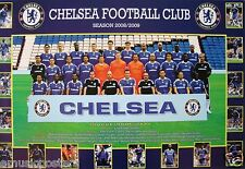"""CHELSEA """"2008/2009 SQUAD SHOT"""" FOOTBALL POSTER -Lampard,Cole,Terry,Eissen,Drogba"""