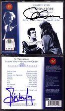 Placido Domingo & Jose Van Dam SIGNED Verdi il trovatore Kabaivanska Karajan 2cd
