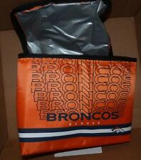 NEW NFL Denver Broncos Lunch Bag Office School 5 X 7 X 9 Zippered NEW NWT