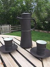 Vintage Mid Century Danish Modern DANSK Flamestone Pitcher 2 Cups Saucers JHQ