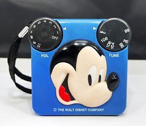 Vintage Disney Radio Shack Mickey Mouse AM Radio TESTED A+
