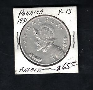 1931 Panama  one Balboa Coin # Y 13