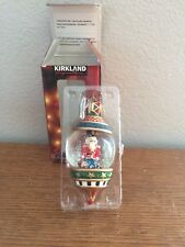 "Kirkland Water Globe Ornament Toy Soldier 5"" Original Box"