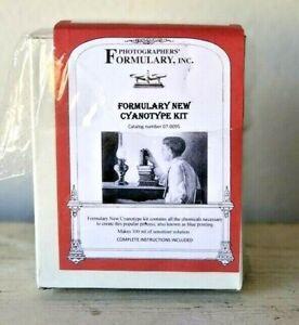 Photographers' Formulary New Cyanotype Printing Kit #07-0095 Opened Box New