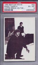 1964 Topps Beatles Movie # 25 Ringo Takes a Coffee Break EX MT PSA 6