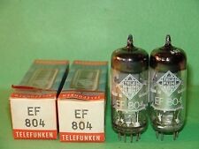 Matched Pair Telefunken EF804 Vacuum Tubes    1975 1995