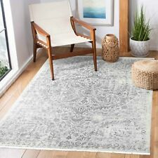 Ossett Grey Ivory Distressed Medallion Transitional Rug - 4 Sizes *FREE DELIVERY