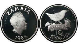 10 Kwacha 2006 Zambia 🇿🇲Silver Proof Coin / Kaunda WWF # 25