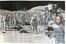 ⫸ 1973-9 September TEAMMATES Man Greatest Adventure MOON National Geographic Map