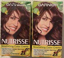 GARNIER NUTRISSE Hair Color 535 Chocolate  Medium Golden Mahogany Brown 2 COUNT
