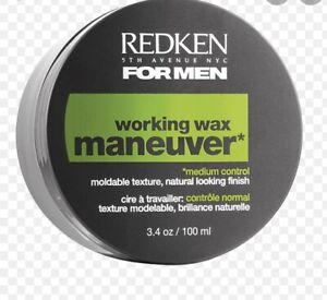 Redken working wax Maneuver Hair Styling for Men 98g 3.4 oz
