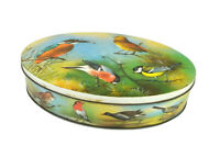 Vintage 1950s Carr's Biscuit Tin Wild Birds Audobon English Songbirds