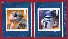 SG4017/18 - 2x 1st Self Adhesive stamps from STAR WARS 11  PM58. 12/10/17 GB533