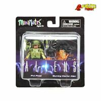 Aliens Minimates Series 2 Pvt. Frost & Burning Warrior Alien