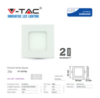 LED Panel Light Premium Square / Round White 3W 210Lm by V-TAC