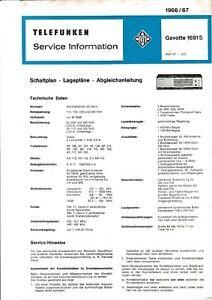Service Manual-Anleitung für Telefunken Gavotte 1691 S