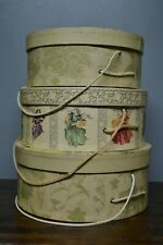 3 Hat Boxes - Tri Coastal 2001 Art in Motion and Christina Lades Hat Boxes 3 sz