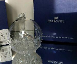 Swarovski Weihnachtskugel 53776678 Christmas Ornament Ball 2018 OVP Neu MIB New