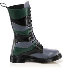 Doc Martens Washed Lilac Black Dark Green Nina 14 Eye Boots Wms 6 Heavy Duty HTF